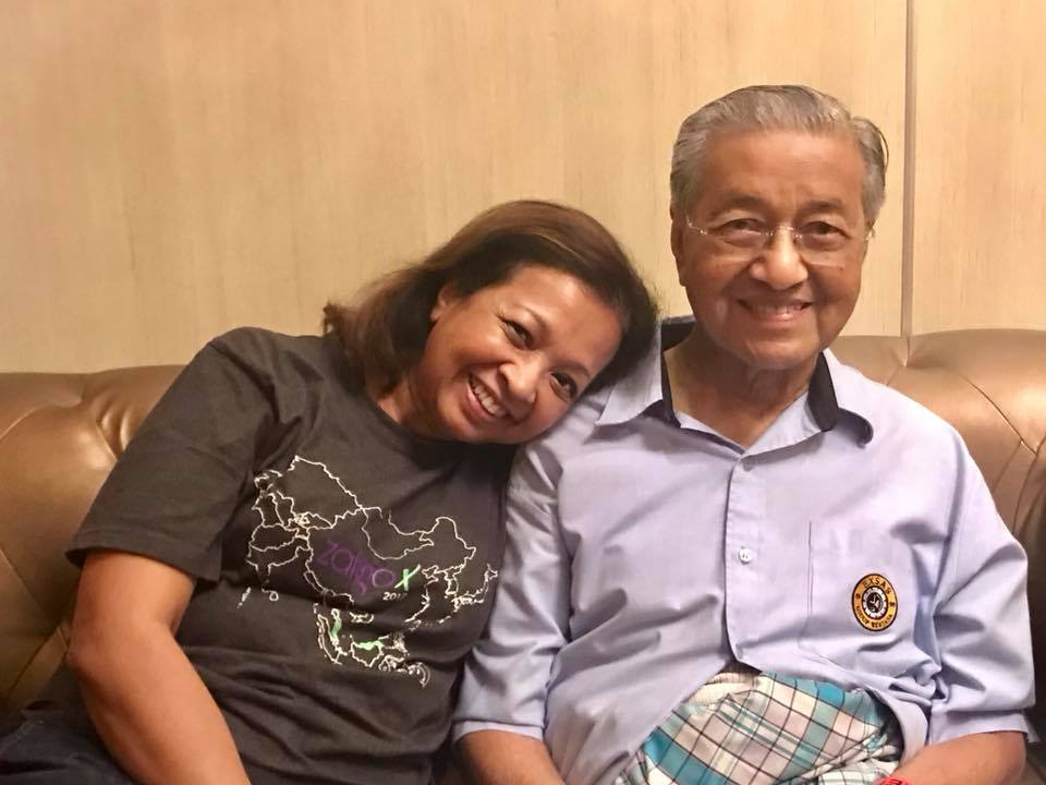 Marina with her dad and Prime Minister Tun Dr. Mahathir Mohamad