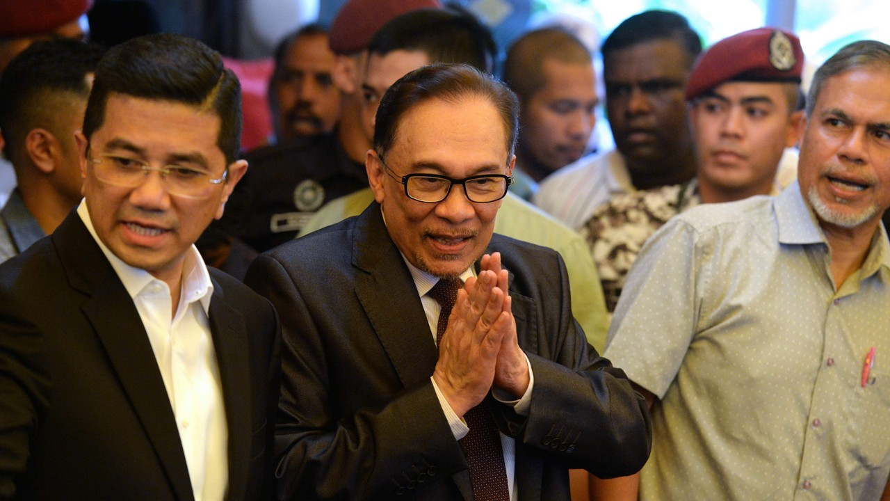 Anwar Ibrahim was pardoned and released from jail on Wednesday.