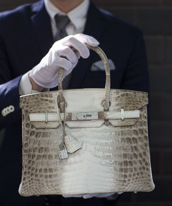 ce2f793eb2 The white Himalayan crocodile bag that is the most expensive bag sold at an  auction to date!