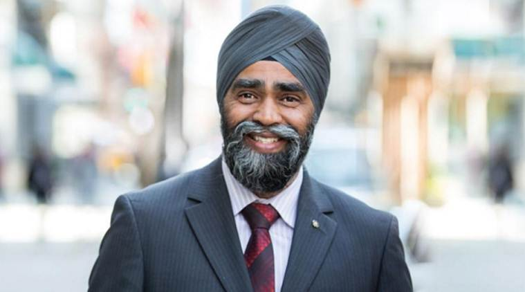 Canadian Defence Minister Harjit Singh Sajian.