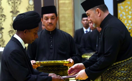 M. Kulasegaran received the letter of appointment from the Yang di-Pertuan Agong yesterday.