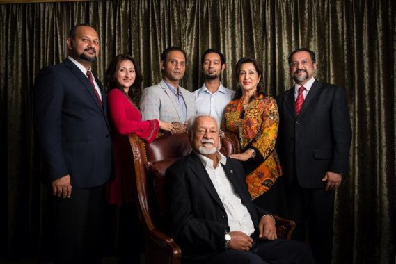 From left: Gobind, sister Sangeet Kaur, younger brothers Ramkarpal and Mankarpal, mother Gurmit, eldest brother Jagdeep, and Karpal Singh.