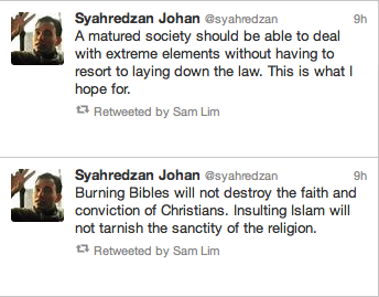 Syah's thoughts on the whole matter.