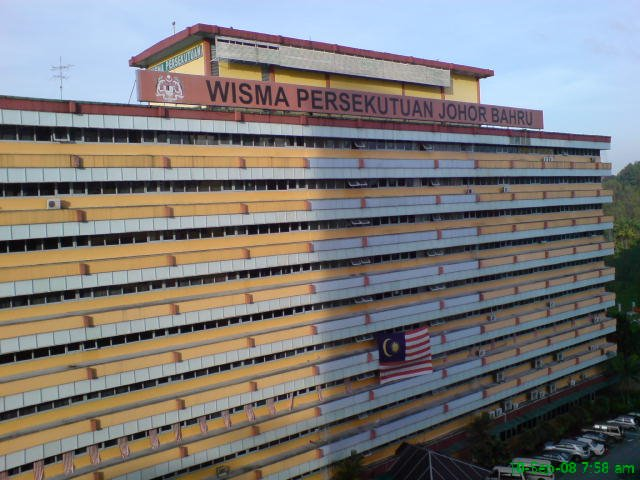 Wisma Persekutuan Johor Bahru, the place where the incident is reportedly to have taken place.