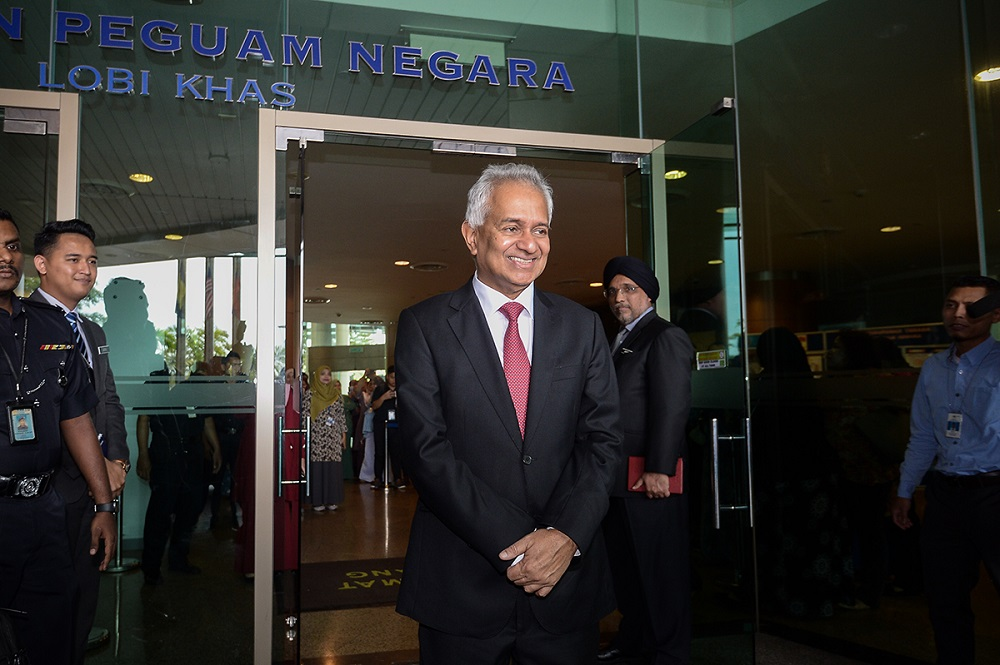 Attorney General Tommy Thomas at the Attorney General Chambers in Putrajaya 6 June.
