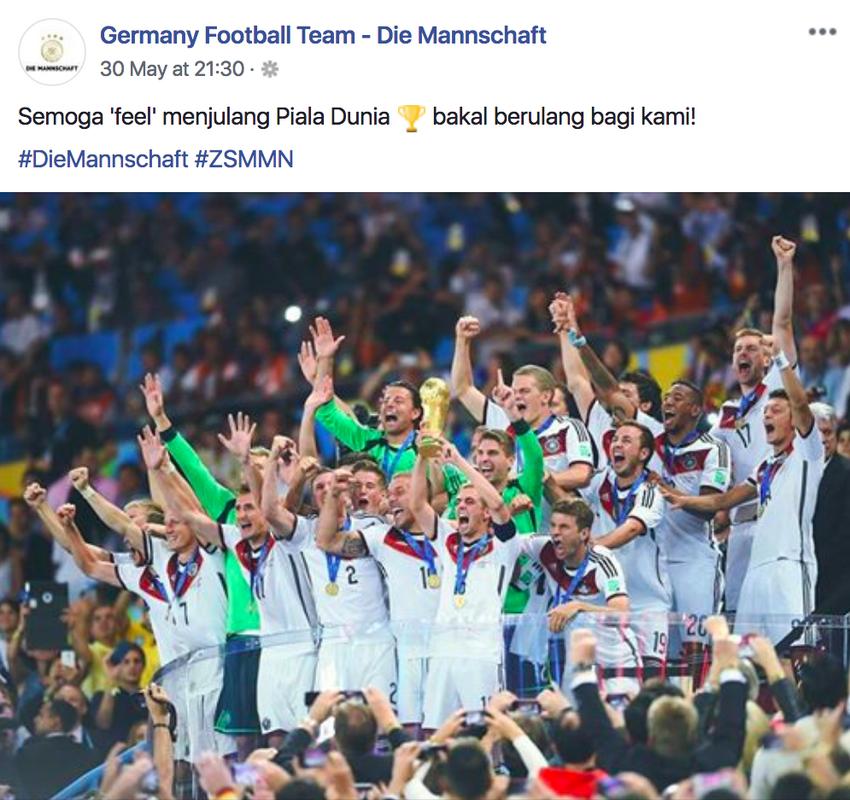 Image from Germany Football Team - Die Mannschaft Facebook