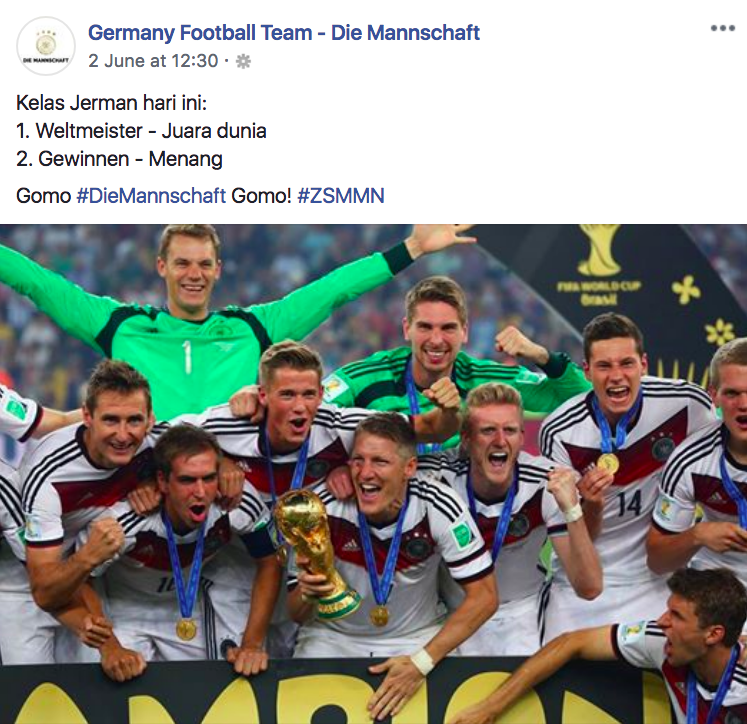 Image from Germany Football Team - Die Mannschaft Facebook
