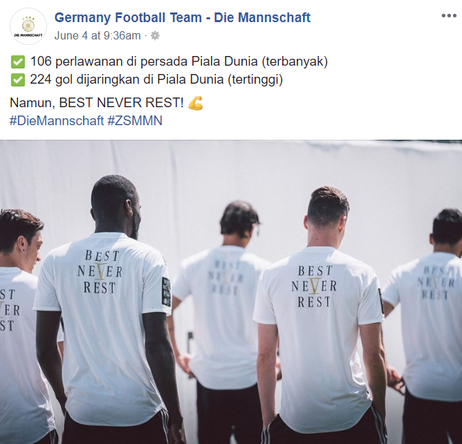 Image from Facebook  Germany Football Team - Die Mannschaft