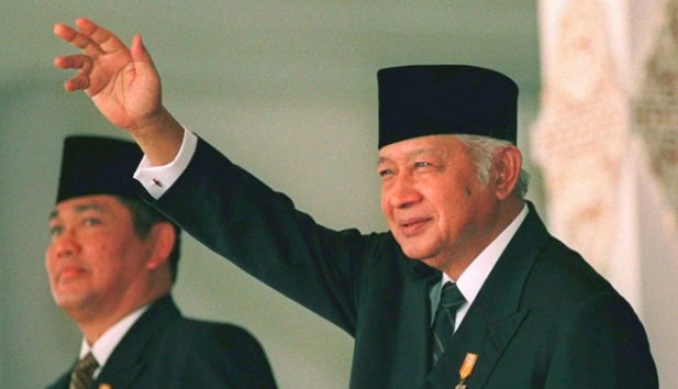 Indonesian military leader and former president Muhammad Suharto