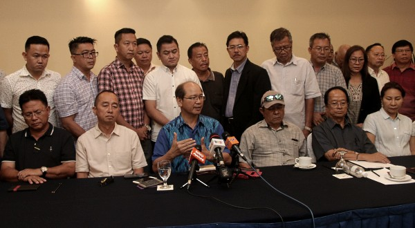 UPKO announcing their departure from the BN coalition.