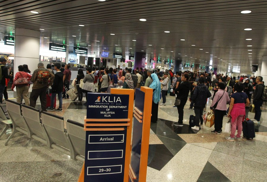 A file photo of KLIA Immigration counter used for illustration purposes only.