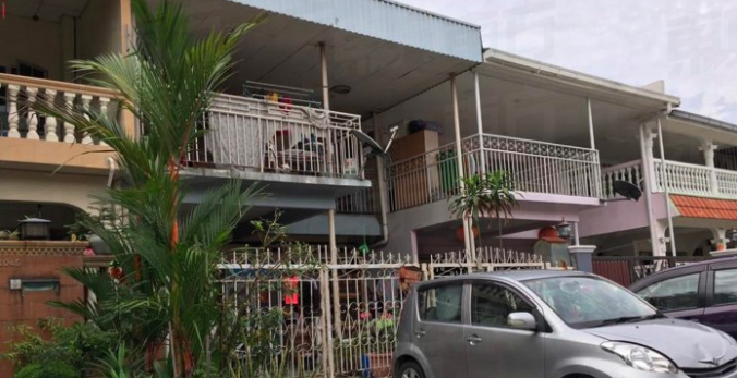 The house in Taman Kepong where the murder occured.