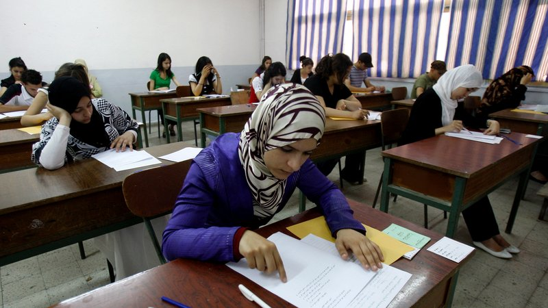 Image via RTE         Algerian exam centre