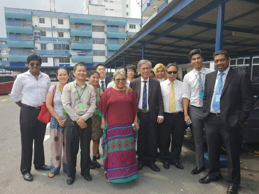Siti with fellow lawyers and supporters.