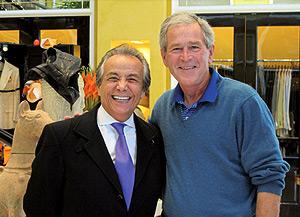 Founder Bijan with George W. Bush.