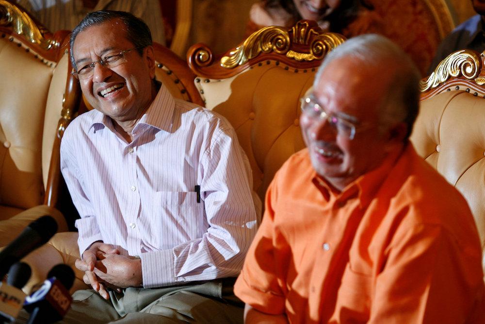 Dr Mahathir and Najib during 2009.