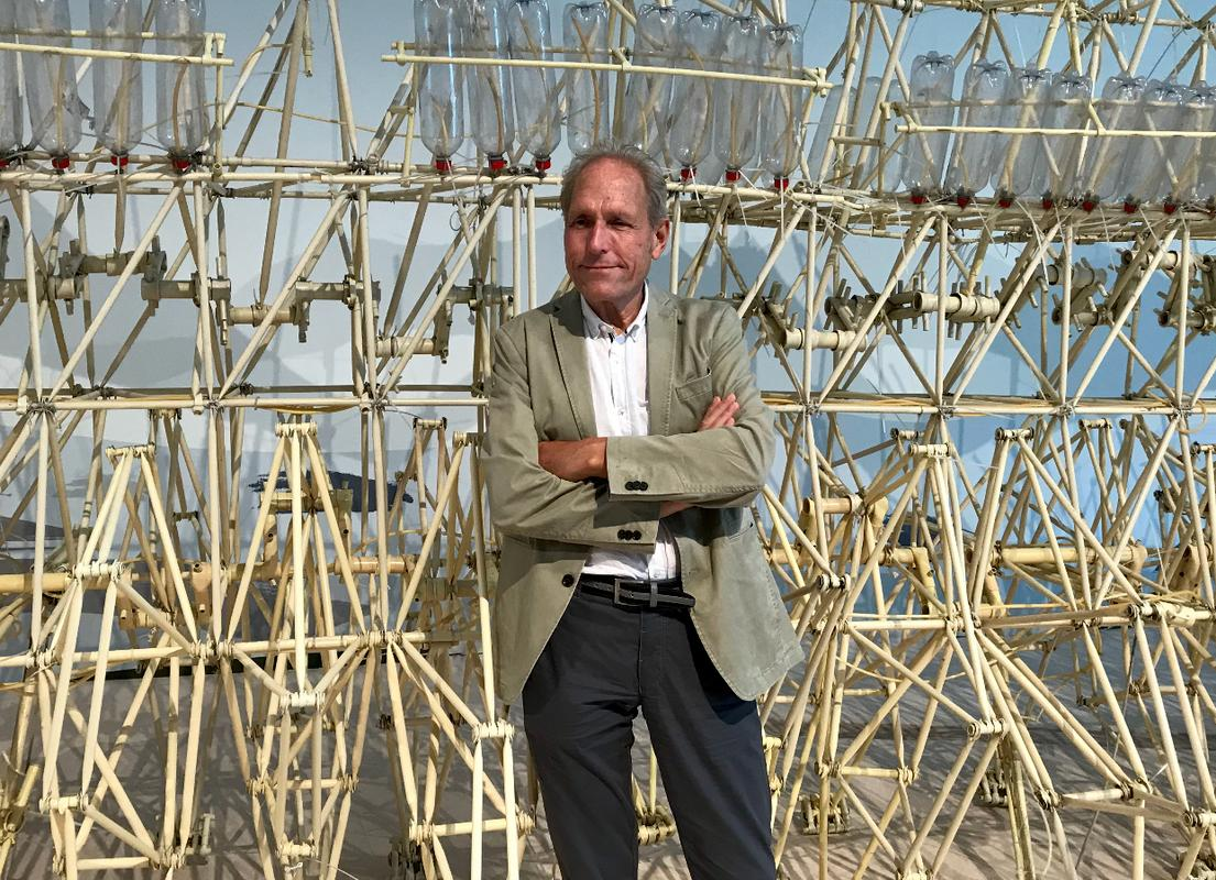 Born in 1948 in the Netherlands, Theo Jansen studied physics but 'rebelled' and pursued a career in art before creating his Strandbeests