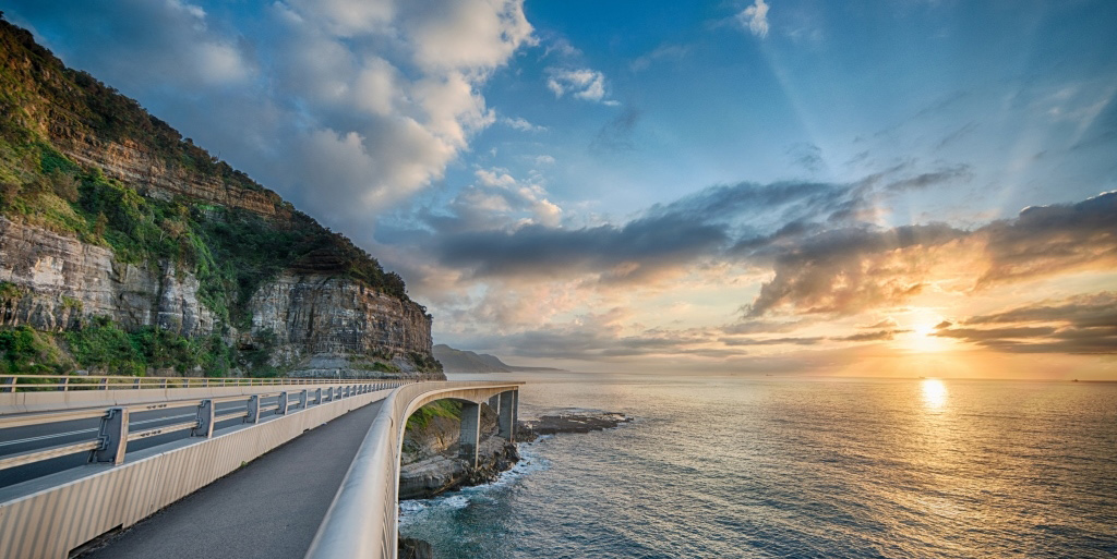 The stunning view along the Grand Pacific Drive