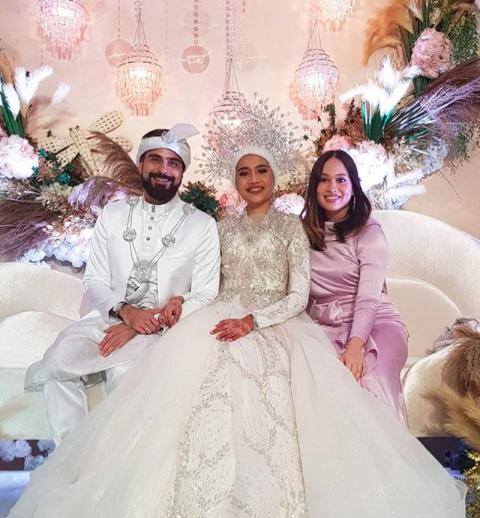 Bil Musa at Yuna Zarai and Adam Sinclair's wedding in January.