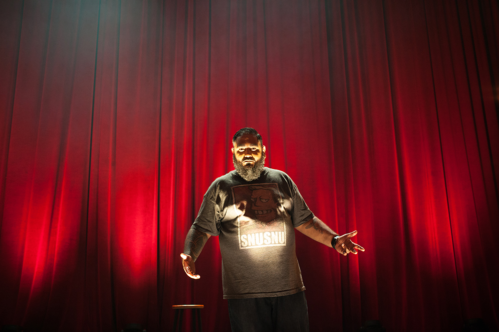 Kavin in rehearsal prior to shooting his Netflix special.
