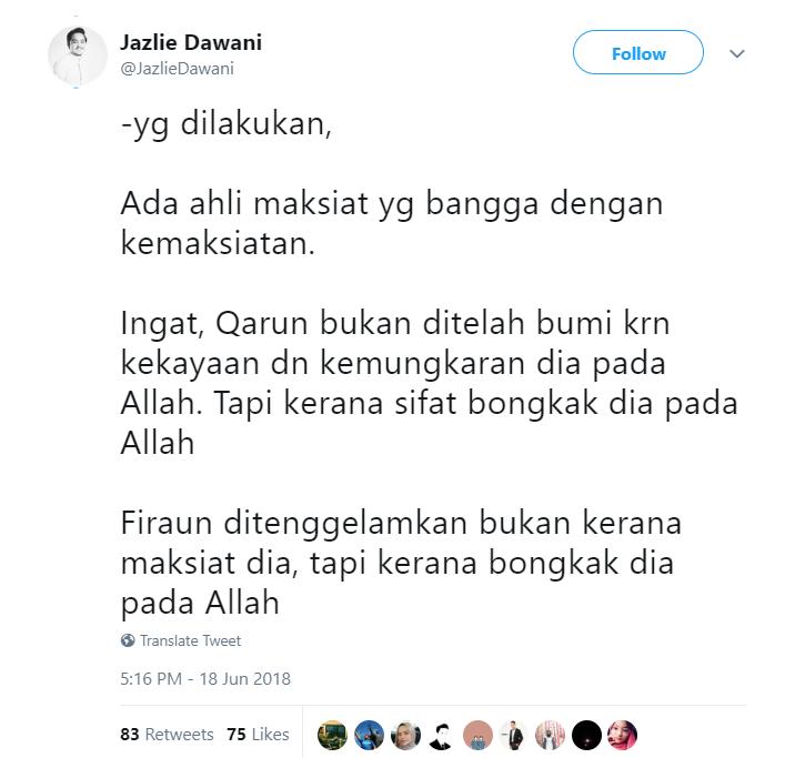 Image from Twitter @JazlieDawani/