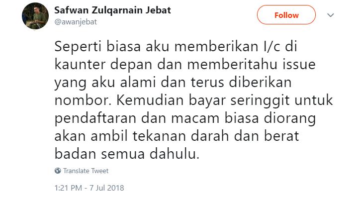 Image from Twitter @awanjebat