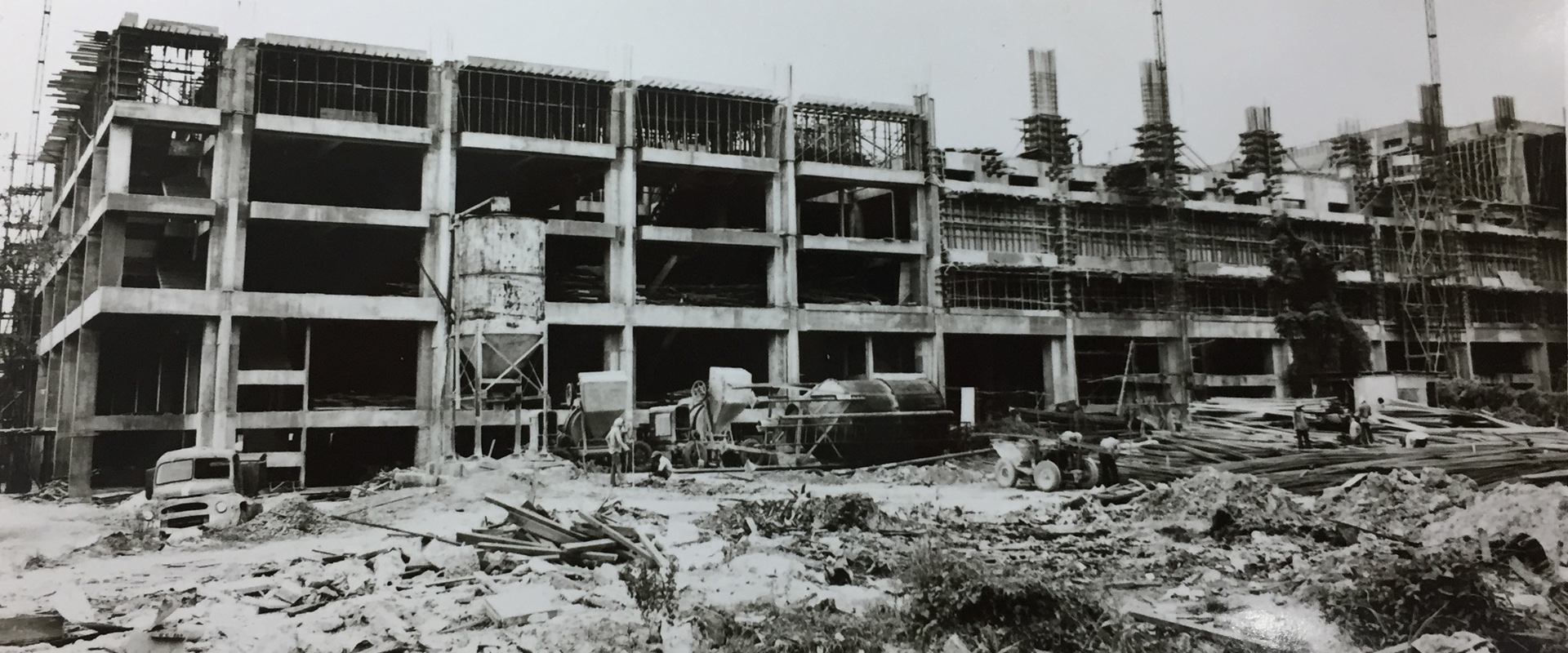Sungei Wang Plaza when it was being built in 1975.