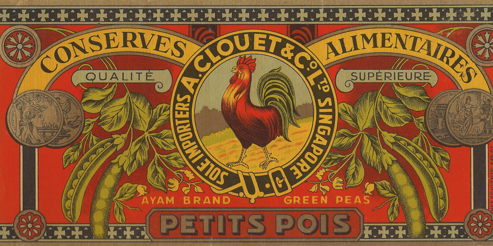 A. Clouet & Co canned peas from the 1930s.
