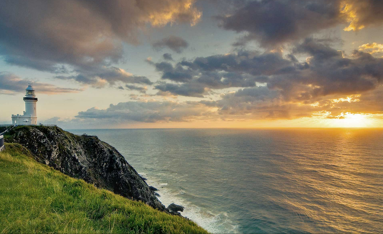 Sunrise at Cape Byron Lighthouse.