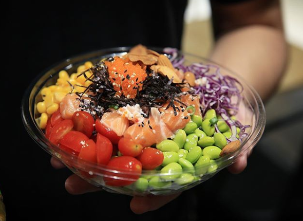 Healthy and colourful poke bowls from Kurin.