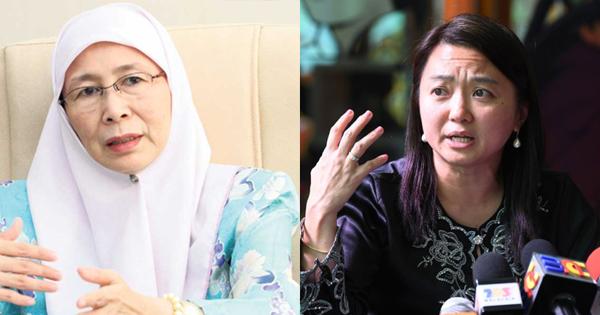 Deputy Prime Minister Datuk Seri Dr Wan Azizah and Deputy Minister Hannah Yeoh.