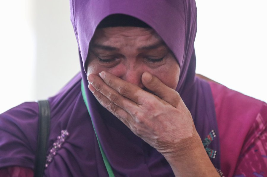 Sarah Nor, the mother of Norliakmar Hamid, a passenger on missing Malaysia Airlines flight MH370.