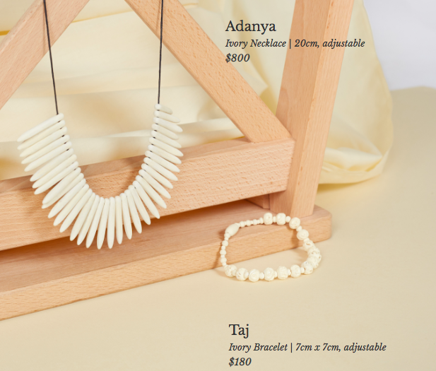 The SGD800 (approximately RM2,388) ivory necklace.