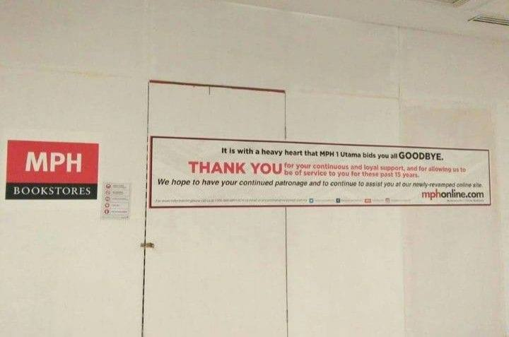 Mph Bookstore In 1 Utama Has Closed Down For Good After 15 Years Of