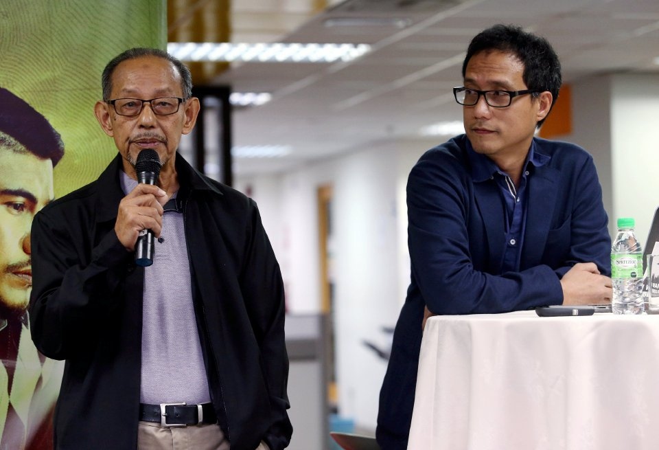 Primeworks Studios CEO Ahmad Izham Omar (right) and his father Omar Othman (left).