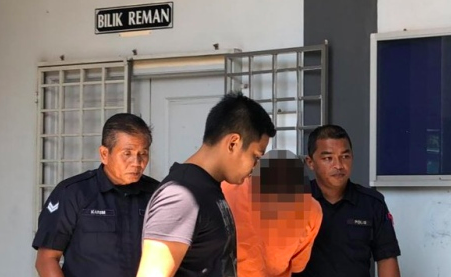 The suspect was brought to the Kota Bahru Magistrate Court yesterday, 12 August.