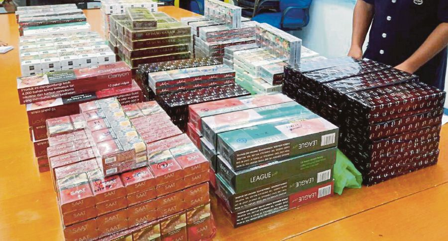 Contraband cigarettes that were confiscated by Customs. One of the biggest syndicates for illegal products are actually illegal cigarette cartels.