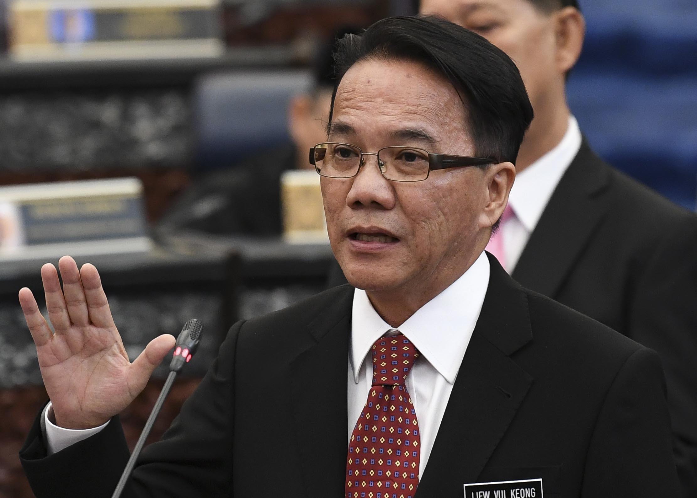 Menteri di Jabatan Perdana Menteri Datuk Liew Vui Keong