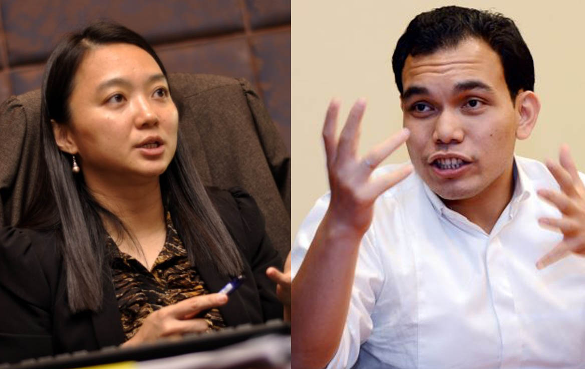 DAP leaders Hannah Yeoh and Syahredzan Johan