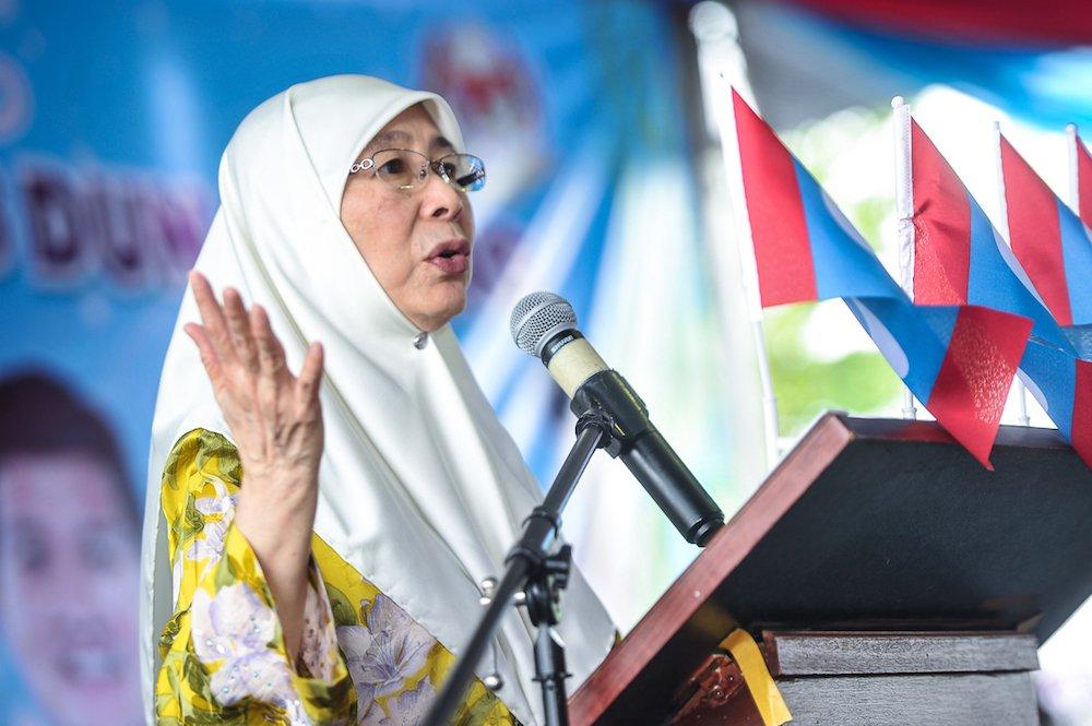 Minister of Women's Affairs and Welfare Datuk Seri Dr. Wan Azizah