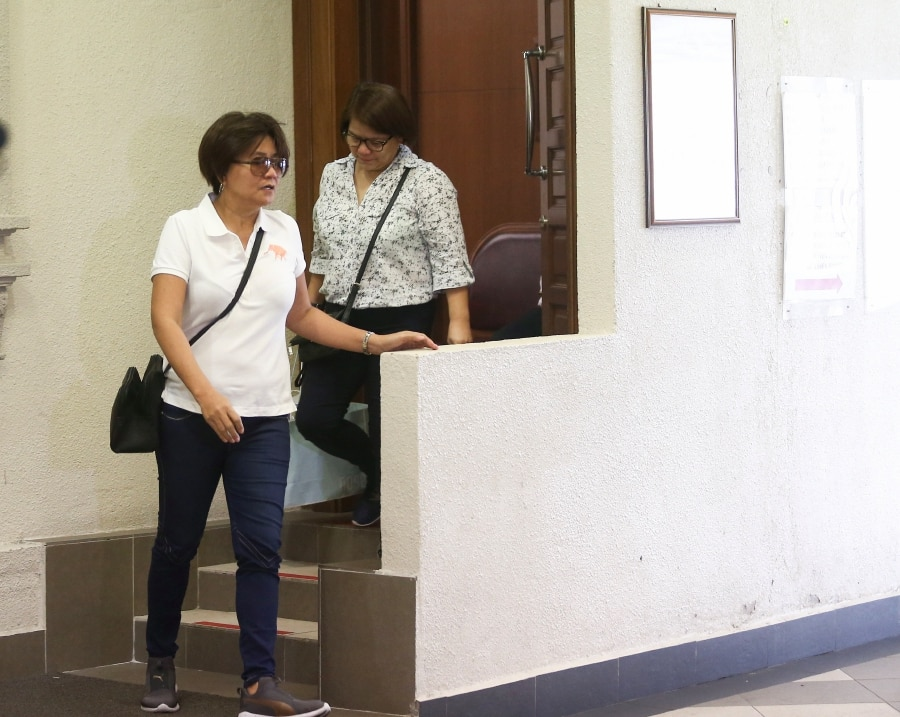 Family members of Gerald seen at the Kuala Lumpur High Court Complex.