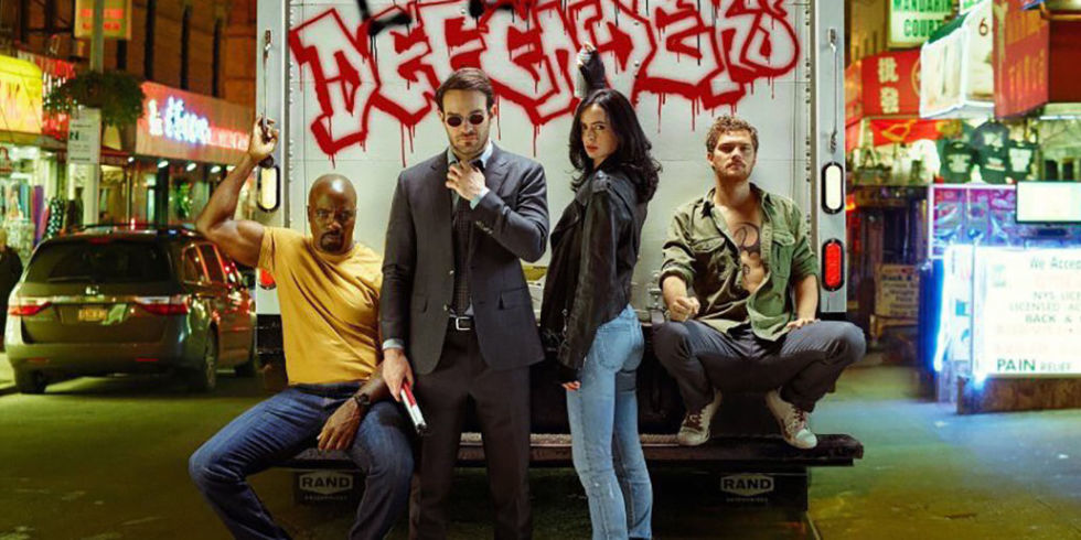 Luke Cage, Matt Murdock (Daredevil), Jessica Jones, and Danny Rand (Iron Fist)
