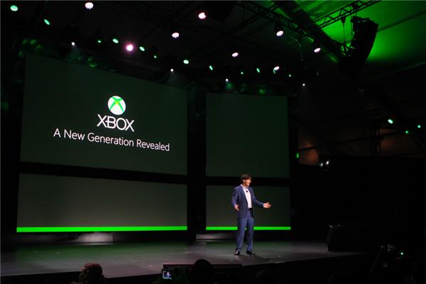 Don Mattrick, president of Microsoft's interactive entertainment business, kicks off the Xbox event in Redmond, Wash.
