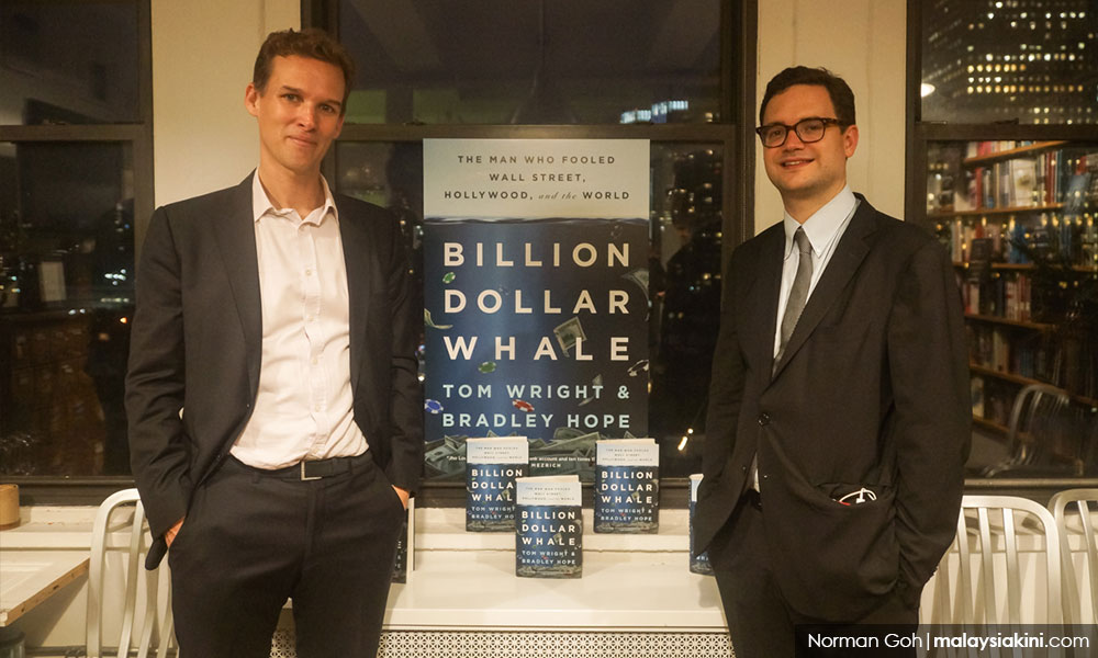 Authors Tom Wright (left) and Bradley Hope dedicated three years of their life into investigating the 1MDB scandal.