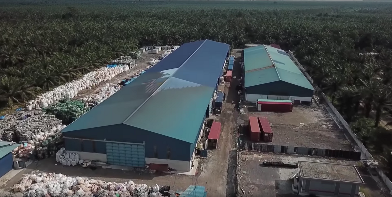 Drone footage of one of the alleged illegal factories.