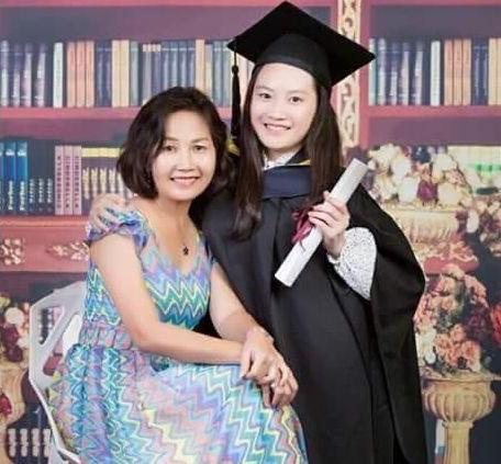 Leong (left) and her daughter. The photo was taken before the diagnosis.
