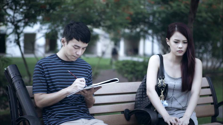 Lawrence Wong (left) in 'Zero Calling'.