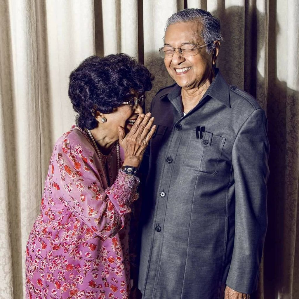 Tun Dr Mahathir and Dr Siti Hasmah are prime example of being there for each other.