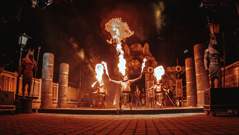 Egyptian Fire Gods Stage.