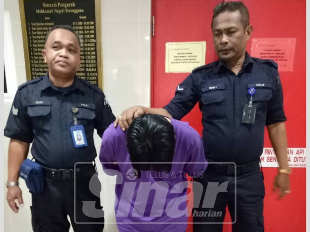 The accused, Eddy Ezry Nordin, 32, at the Kuala Terengganu Magistrate yesterday, 4 October.